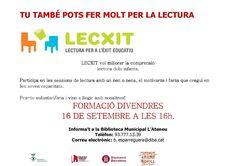 Divendres 16 de setembre 4 de la tarda, Formació dels voluntaris del LECXIT