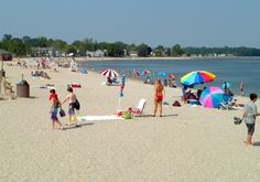 Compo Beach, Westport, CT--this is where I grew up playing, learning to swim, making sandcastles, and inhaling salt water.