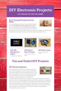 DIY Electronic Projects, diy burgler alarm, Altoids tin projects, diy iPhone charger
