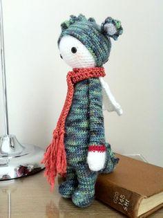 DIRK the dragon made by Rocio B. / crochet pattern by lalylala