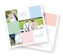 Cartes de remerciement mariage | Enveloppes offertes | LIPS.FR