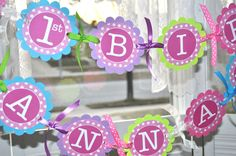 Birthday Banner  1st Birthday Banner  by sosweetpartyshop on Etsy, $35.00
