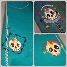 lovely skulls, embroidery design by püppilottadesign