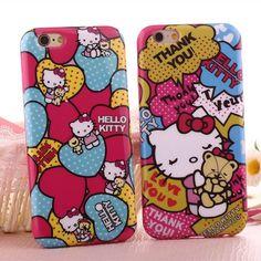 "Cute cartoon PINK hello kitty bear soft case cover for apple iphone6 plus 4.7"" #RLH"