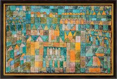 Paul Klee 'Tempelviertel Von Pert' (Temple Quarter of Pert)  1928  Watercolor,pen and ink on gypsum and painted gauze on cardboard  27.5 x 42 cm