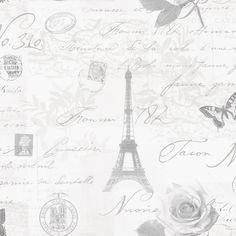 Holden Décor Calligraphy Grey Wallpaper | Departments | DIY at B&Q