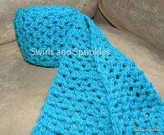 Swirls and Sprinkles: Free crochet Breath of Spring Scarf pattern