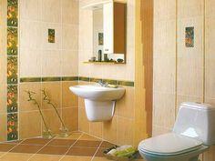 small bathroom ideas yellow tile