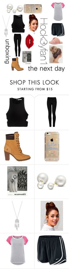 """""""chapter 14 IIDFY Alex"""" by alexandraautidiea9 on Polyvore featuring T By Alexander Wang, Wolford, Timberland, Agent 18, Allurez, Lucky Brand, DKNY, NIKE and Ted Baker"""
