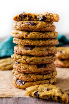 Chewy Chocolate Chip Cookies with Less Sugar - sucanat recipe