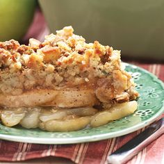 Apple-Pork Chop Casserole | This 4-ingredient entree is an easy after school dinner filled with the flavors of fall.
