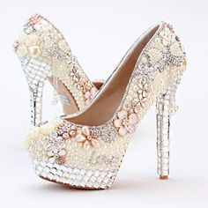 Cheap shoes futsal, Buy Quality shoe clip directly from China shoes wear Suppliers: Personalized 2016 High Heel Ivory Pearl Bridal Shoes Wedding and Brideal Shoes with Tassel Lo Shape Evening Prom Party Platforms Futsal Shoes, Pearl Party, Bling Shoes, Ivory Pearl, Party Shoes, Womens High Heels, Platform Shoes, Bridal Shoes, Fashion Styles