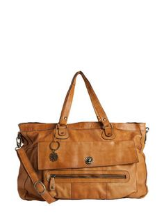 Leather travel bag in Cognac from Pieces. I absolutely adore this bag - and the more worn it gets, the better it looks.