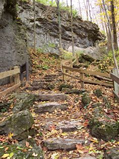 Natural stairs at Clifton Gorge in Ohio taken by Linda Penewit