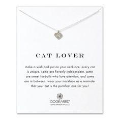 cat lover best friend heart paw necklace, sterling silver - $48