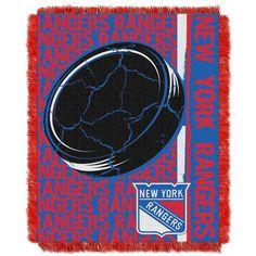 New York Rangers Jacquard Throw Blanket by Northwest, Multicolor