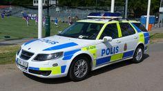 Saab 9-5 combi  police car