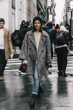 Ideal winter look seen at this years NYFW New York Fashion Week 2017