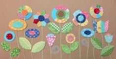 Bee In My Bonnet: Sew Simple Shapes - Patchwork Flower Garden Tutorial!