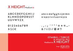 x height Font by Ufuk Usta http://ufukusta.com/