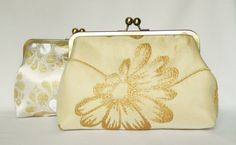 Bridal Clutch Purse Ivory and Gold Design Clutch by TheHeartLabel, £70.40