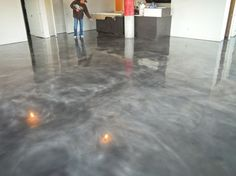 gray brown stained concrete floors Grey Concrete Stain After