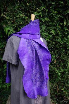 nuno felted silk wrap silk shawl mauve silk scarf mauve nuno felted throw felted silk scarf patterned mauve wrap wool silk scarf sari silk by hipposinhats on Etsy