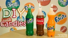 Easy tutorial of absolutely incredible Do-It-Yourself candles in the shapes of Cola, Fanta and Sprite bottles. If you are looking for the best DIY gift idea . Diy Candles With Crayons, Diy Crayons, Fancy Candles, Best Candles, White Candles, Making Candles, Coca Cola, Bottle Candles, Pop Bottles