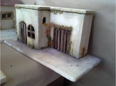Mini Things, Christmas Nativity, Miniature Houses, Mixed Media Canvas, Fairy Houses, Diy And Crafts, Pottery, Display, Bird