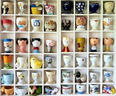 Angelika Arndt's Egg Cup Collection - Antique Remix  #collections #interior