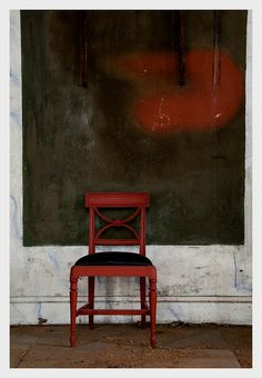 Wall art, red chair