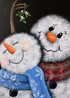 Christmas Paintings On Canvas, Santa Paintings, Christmas Canvas, Photo Noel, Christmas Signs, Christmas Snowman, Simple Christmas, Christmas Pictures, Winter Christmas