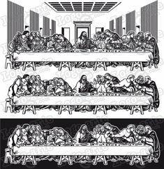The Last Supper Tattoo, Last Supper Art, Chicano Art Tattoos, Tribal Tattoos, Maria Tattoo, Christ Tattoo, Custom Stencils, Colour Board, Woodburning