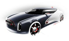 Picked up by CGchips. tutorials and news site… Car Design Sketch, Car Sketch, Motorbike Design, Industrial Design Sketch, Automotive Design, Auto Design, Mini Cooper S, Transportation Design, Concept Cars