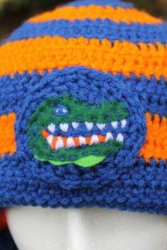 Crochet Gator Beanie  Adult by OneCraftyKitten on Etsy, $30.00