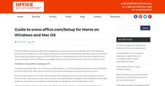 Guide to www.office.com/Setup for Home on Windows and Mac OS