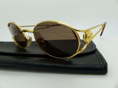 f5b0c42103f Genuine Rare Vintage Gianni Versace Sunglasses Mod G Col 030 New Old Stock  by VSOx on Etsy