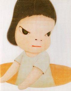 artwork by Yoshitomo Nara Japanese Art Modern, Japanese Artists, Art Pop, Graffiti, Arte Punk, Yoshitomo Nara, Superflat, Picture Engraving, Artist Art