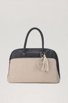TWIN-SET Simona Barbieri: Two-tone handbag with heart pendant We Carry On, Shoulder Bag, Twin, Handbags, Pendant, Stuff To Buy, Girly, Women, Collections