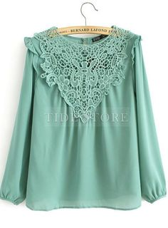 Shop Soft Falbala Long Sleeves Crochet Flower Lace Blouse on sale at Tidestore with trendy design and good price. Come and find more fashion Blouses here. White Skinnies, Venus Swimwear, Chiffon, Lacy Tops, Mix And Match Bikini, Fashion Sewing, Blouse Styles, Cheap Dresses, Crochet Flowers