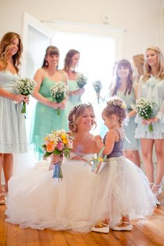 bride and flower girl picture is a must