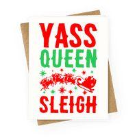 Yass Queen Sleigh Greetingcard