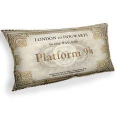 Perron 9 3/4, Harry Potter Hogwarts Express - aangepaste Geek stof kussen kussensloop Home Decor gegooid kussen met innerlijke