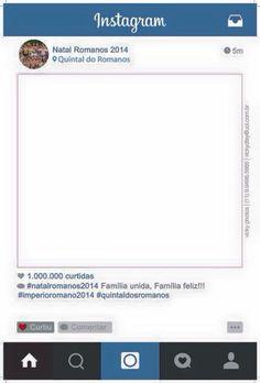 Placa Instagram Natal Família Romano