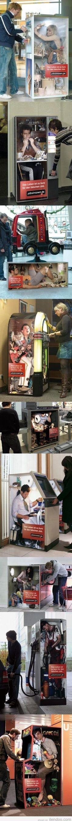 Ever wondered who's in that vending machine? Guerilla de Marketing – German Job Market / Jobsintown