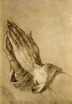 Albrecht Durer (1471 -1528) - German painter, printmaker, engraver, mathematician, and theorist. The greatest artist of the Northern Renaissance. - Praying Hands - Links to Wikipedia not image)