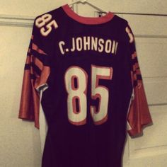 #throwbackthursday #ChadJohnson #jersey....before the #Miami Dolphins..before the #NewEngland #Patriots...before #OchoCinco ...there was #Chad #Johnson...the #Cincinnati #Bengals world-class #widereciever that worried the defenses across the entire #NFL #throwback #tbt