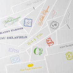 Letterpressed Custom Personal Stationery - Set of 50 - 1 color letterpress via Etsy