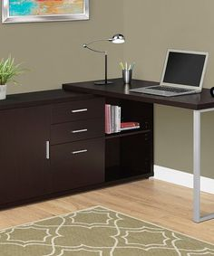 This Cappuccino Storage Computer Desk is perfect! #zulilyfinds