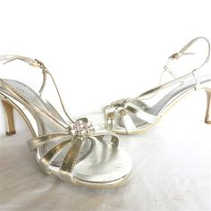 """Pre-Loved Silver 'Cestbon' Shoes - PL388 - 18.00 AUD - Pre-Loved 'Cestbon' silver size 10 shoes with 3"""" heel.  Great condition. - Checkout: Easy Paypal  Most Credit Cards Bank Transfer - Within 7 Days (Australia)"""